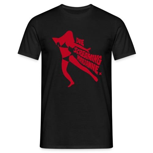 Die Screaming Marianne black and red tee - Men's T-Shirt