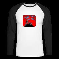 Long sleeve shirts ~ Men's Long Sleeve Baseball T-Shirt ~ BHF logo baseball top