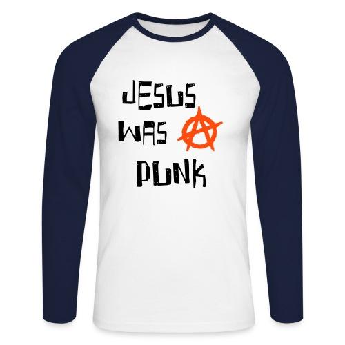 JESUS WAs PUNK//Recto // 2 couleurs - T-shirt baseball manches longues Homme