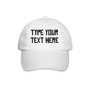 Make your own text Cap - Baseball Cap
