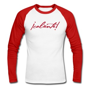 Rouge Caliente - T-shirt baseball manches longues Homme