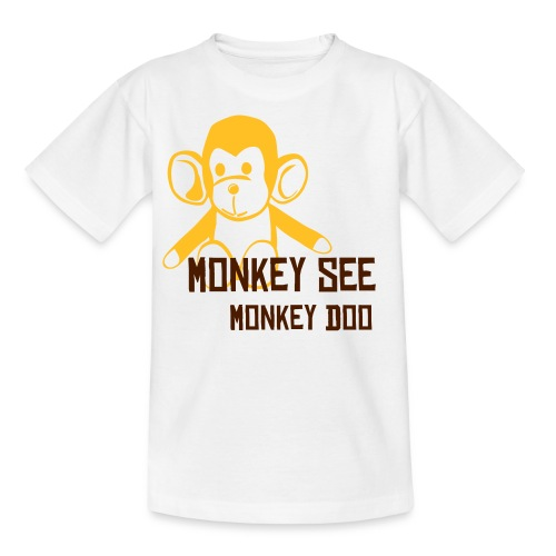 Monkey Kid's White - Teenage T-Shirt