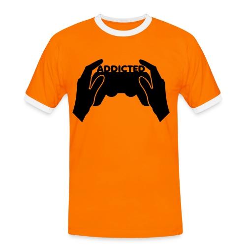 ORANGE ADDICTED T-SHIRT - Men's Ringer Shirt