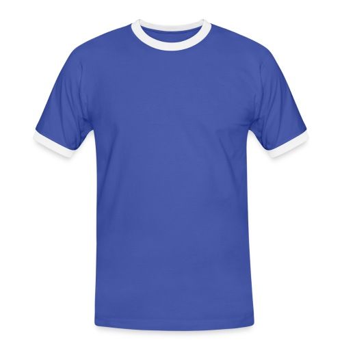 Shirt blue/white - Männer Kontrast-T-Shirt