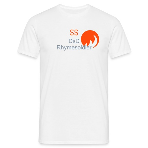 Men's T-Shirt - A white silver text orange flame design only £20.20