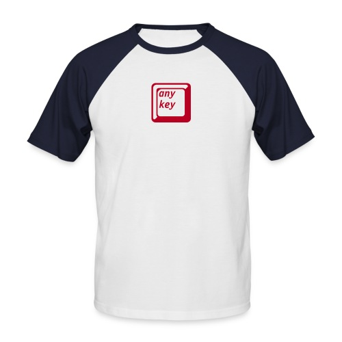 any key - kurzarm - rot / weiss - Männer Baseball-T-Shirt