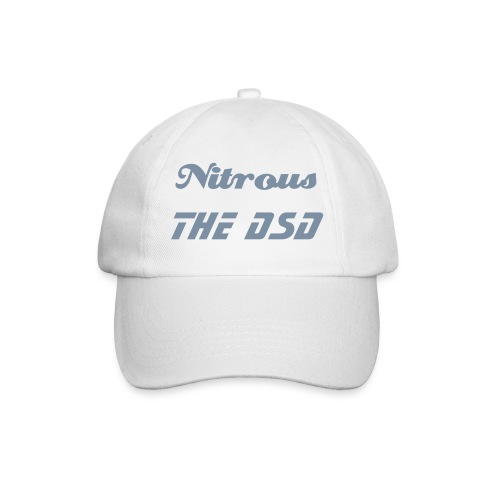 Baseball Cap - A white cap grey fancy text £9.20