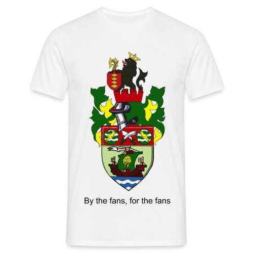 T-Shirt - large crested, By the Fans, for the fans - Men's T-Shirt