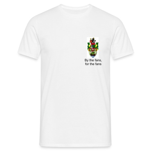 T-Shirt - small crested, By the Fans, for the fans - Men's T-Shirt