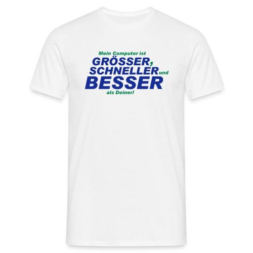 Besserer PC - kurzarm - weiss - Männer T-Shirt