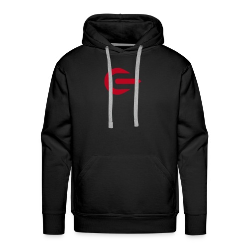 IOU Red on Black - Hoodie - Men's Premium Hoodie