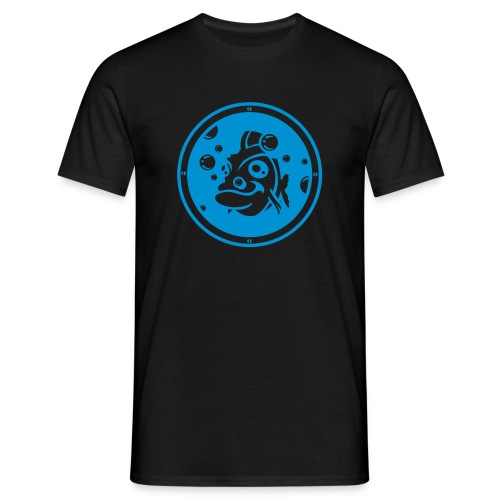 T-shirt aquarium noir et bleu - T-shirt Homme
