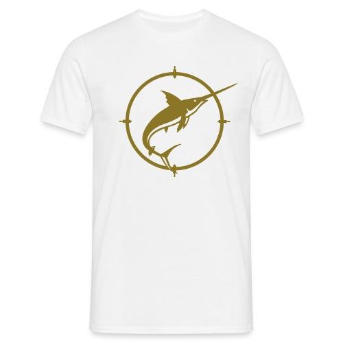 T-shirt marlin blanc et or - T-shirt Homme