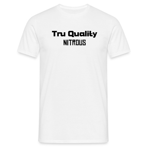 Men's T-Shirt - a WHITE t shirt black text tru quality ultimate shirt only £11.20