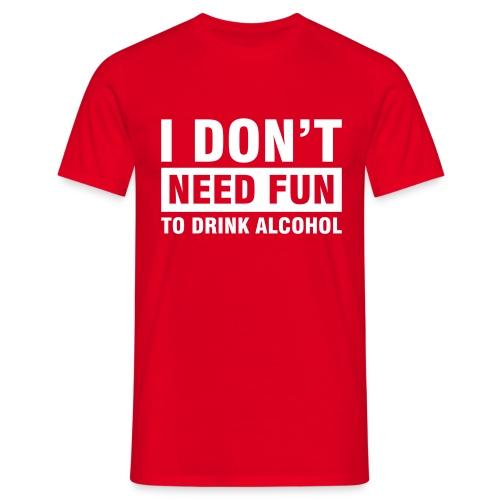 Alcohol Roja - Camiseta hombre