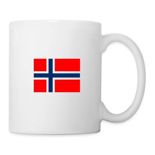 Kaffe kopp med det Norske flagg. - Kopp