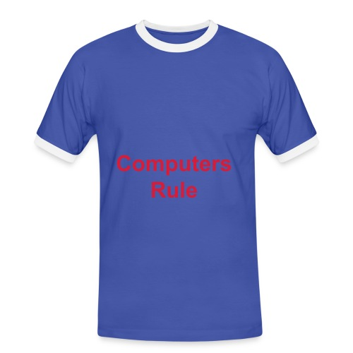 Computers Rule - Mannen contrastshirt
