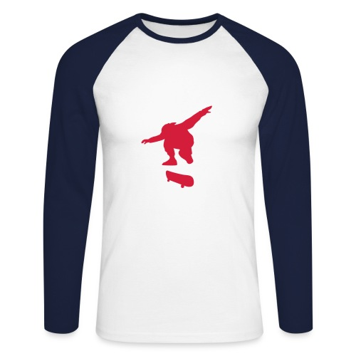 SK8 FLIP RIDER - Men's Long Sleeve Baseball T-Shirt