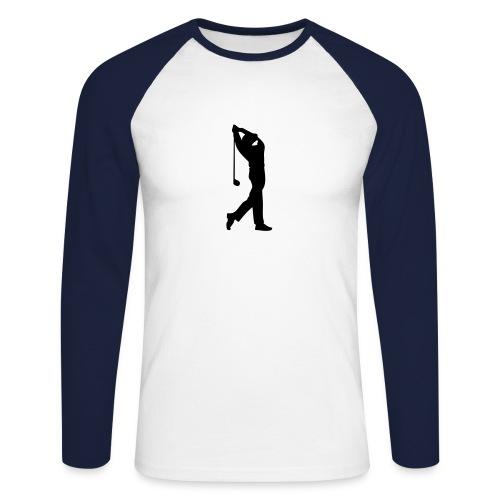 Langermet baseball-skjorte for menn - Golfmotiv på front