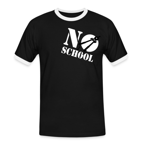 No School - Mannen contrastshirt