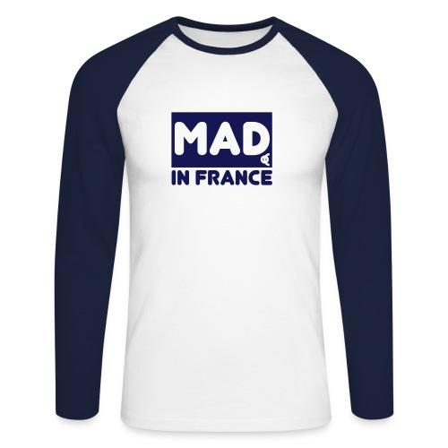 MAD in France - choisissez la couleur du tee shirt - T-shirt baseball manches longues Homme