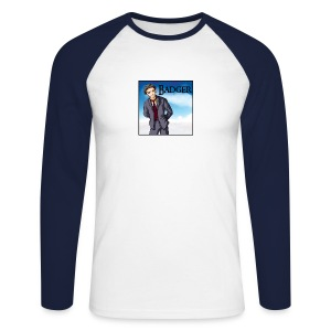 Badger - Animation - Men's Long Sleeve Baseball T-Shirt