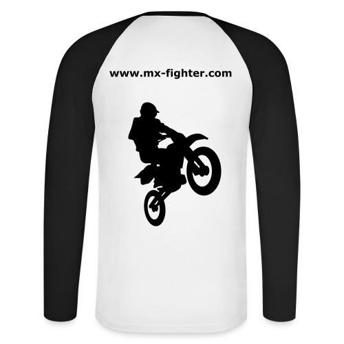 mx-fighter + cross h - Männer Baseballshirt langarm