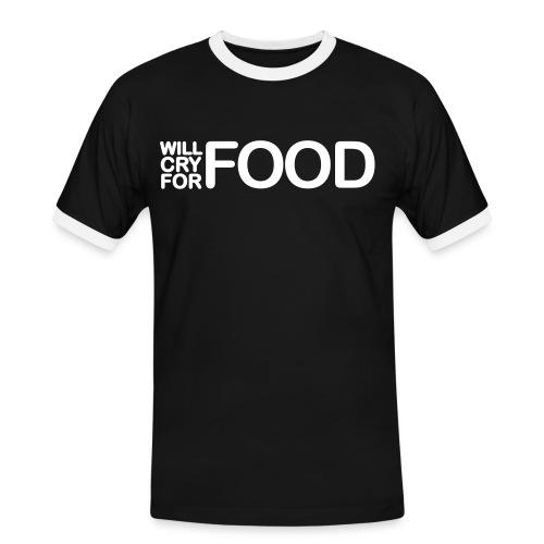 Food - Männer Kontrast-T-Shirt
