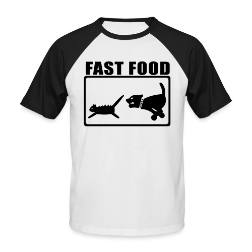 cat_dog v/ - Männer Baseball-T-Shirt
