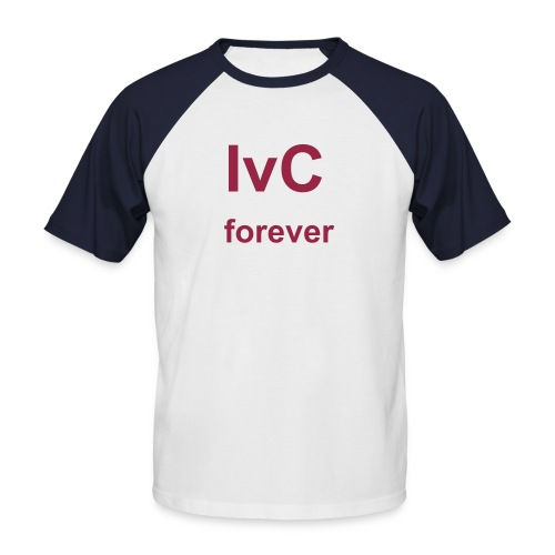 IvC forever - white&red - Männer Baseball-T-Shirt