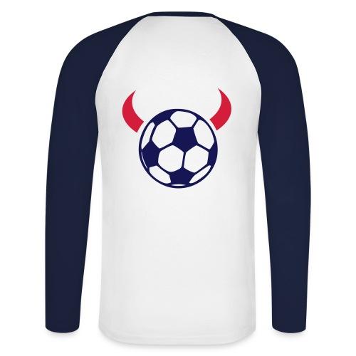 Devil Soccer - Mannen baseballshirt lange mouw