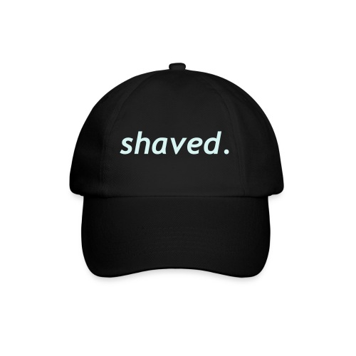 Baseballkasket - Baseball cap i sort med shaved motiv i power-reflex.