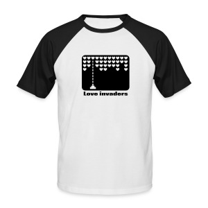 Love invaders - Mannen baseballshirt korte mouw