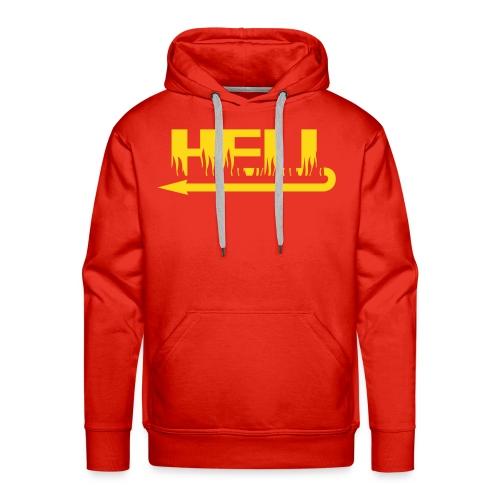 Herre Premium hættetrøje - Fed sweatshirt i rød med gult motiv foran.