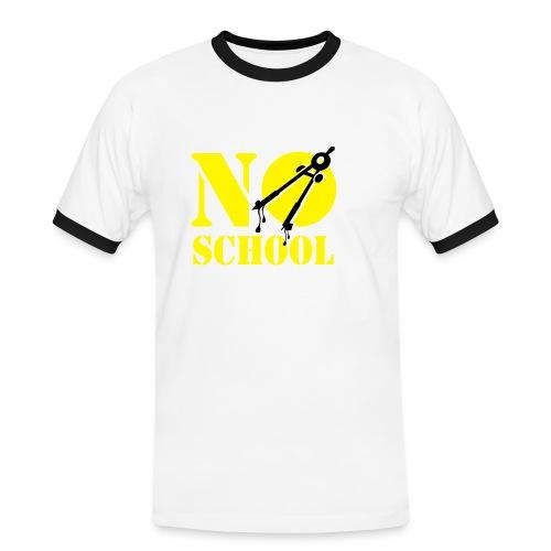 noschool - Mannen contrastshirt