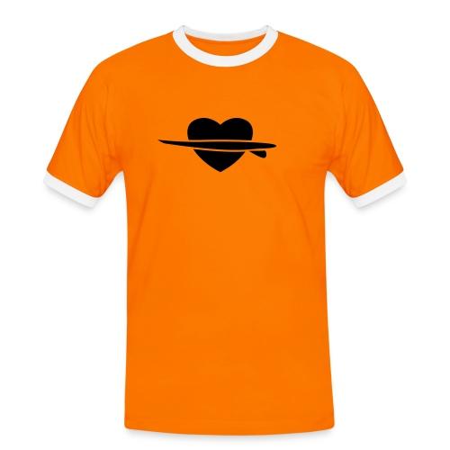 Surf-heart - Mannen contrastshirt