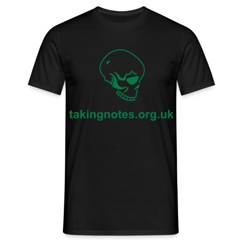 Taking Notes Skull T-shirt - Men's T-Shirt