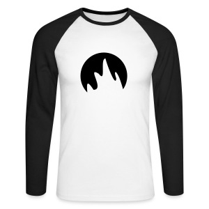 Flame - Men's Long Sleeve Baseball T-Shirt