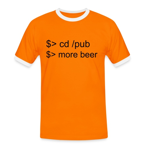 more beer - Männer Kontrast-T-Shirt