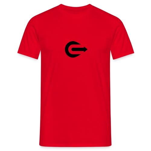 IOU Black on Red - Men's T-Shirt
