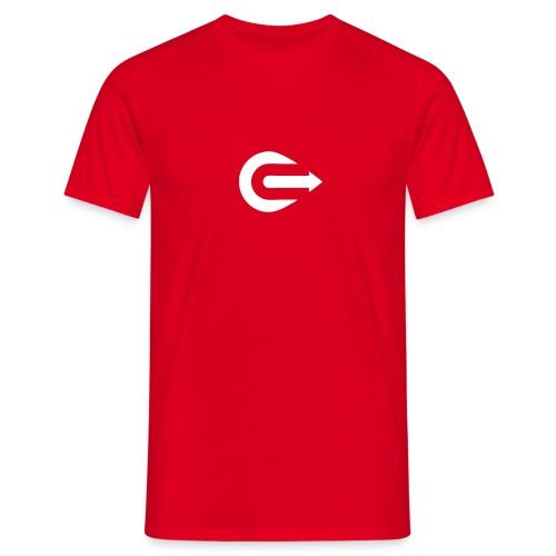 IOU White on Red - Men's T-Shirt