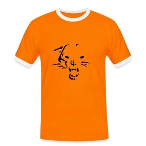 tiger - Kontrast-T-skjorte for menn