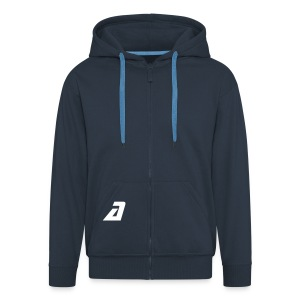 'a' hood - Men's Premium Hooded Jacket