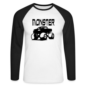 Tee-Shirt Homme manches longues Monster Truck - T-shirt baseball manches longues Homme