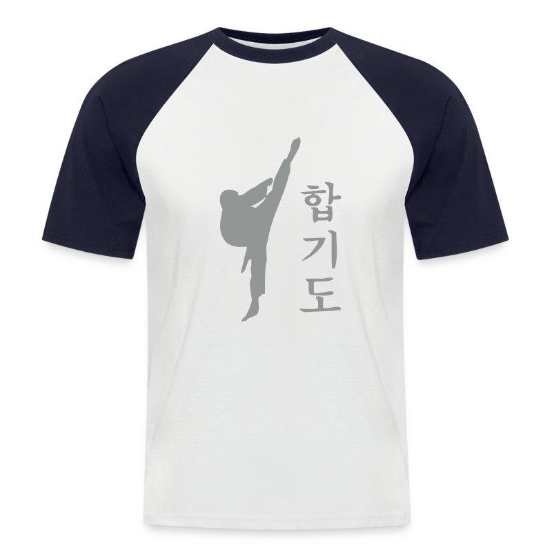 HAPKIDO Shirt Raglan Kurzarm - Männer Baseball-T-Shirt