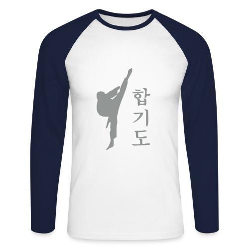 HAPKIDO Shirt Raglan Langarm - Männer Baseballshirt langarm