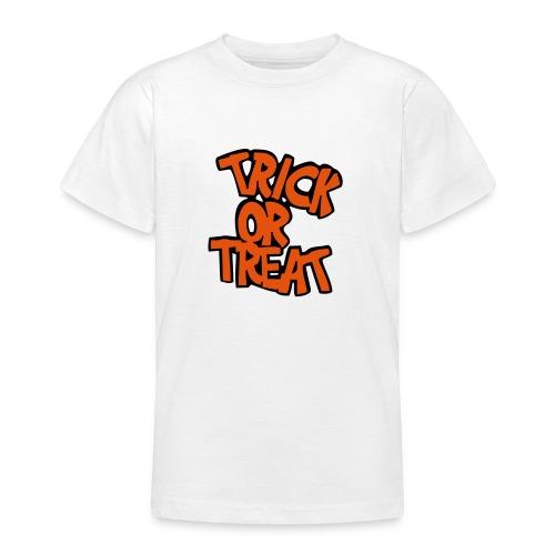 T-Shirt blanc Halloween TrickOrTreat devant - T-shirt Ado