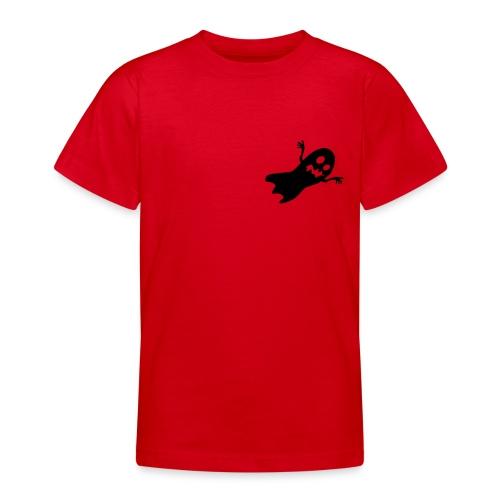 T-Shirt blanc Halloween LittleGhost poitrine - T-shirt Ado
