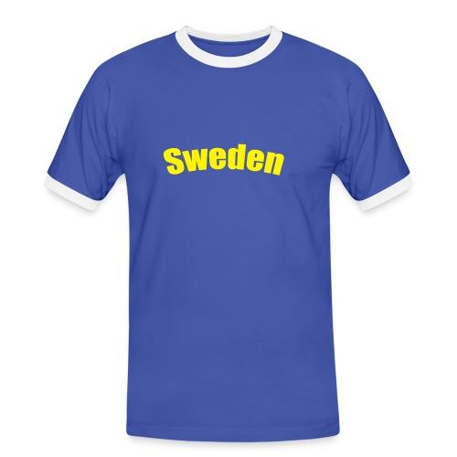 T-shirt Sweden - Kontrast-T-shirt herr