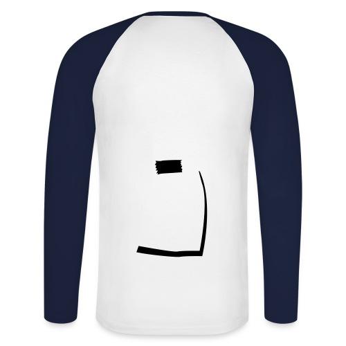 014-001 - Langermet baseball-skjorte for menn